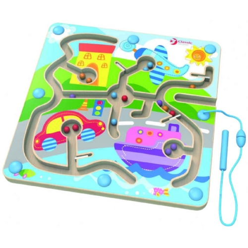 Game of the Month - Classic World Wooden Traffic Magnetic Navigation Puzzle