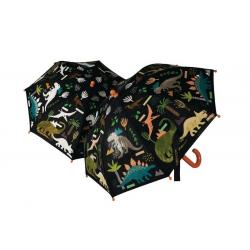 Colour Changing Umbrella - Black Dinosaur