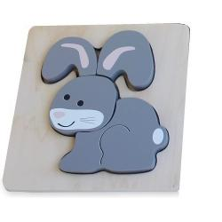 Discoveroo Chunky Wooden Bunny Puzzle