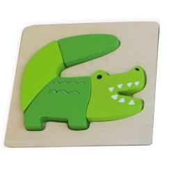 Discoveroo Chunky Wooden Crocodile Puzzle