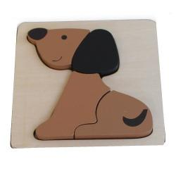 Discoveroo Chunky Wooden Dog Puzzle