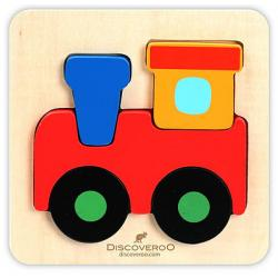Discoveroo Chunky Wooden Train Puzzle