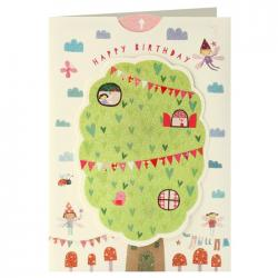James Ellis Birthday Card - Tree House Pull Tab