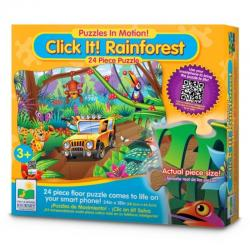 The Learning Journey Puzzle in Motion - Click It Rainforest 24pc