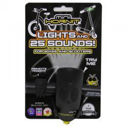 Mini Hornit Bike Bell and Light Black