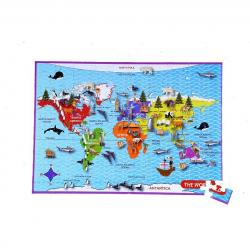 Mapedia World Map Jigsaw from Purple Cow