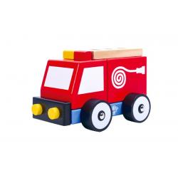 Wooden Build It Fire Engine