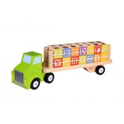 Wooden Alphabet and Number Truck