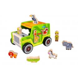 Wooden Safari Jeep Shape Sorter