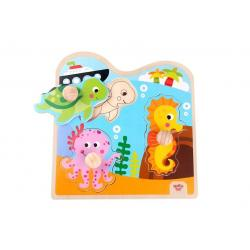 Wooden Chunky Puzzle–Marine
