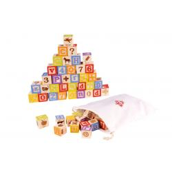 Wooden Alphabet Block Set 50pc