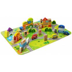 Wooden Block Set - City 100pcs