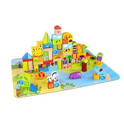 Wooden Block Set - Jungle 135pcs