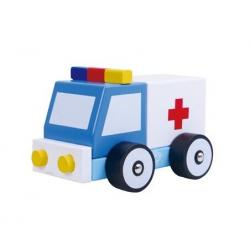 Wooden Build It Ambulance