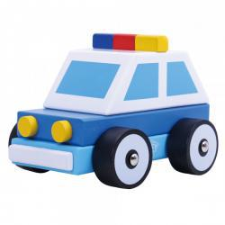 Wooden Build It Police Car