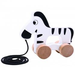 Wooden Pull Along Zebra