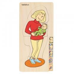 Beleduc Mother 5 in 1 Layer Puzzle