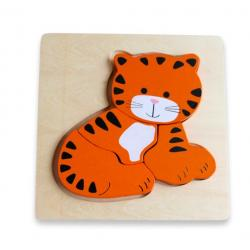 Discoveroo Chunky Wooden Tiger Puzzle