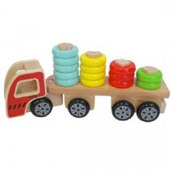 Discoveroo Wooden Sort n Stack Wooden Truck