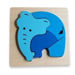 Discoveroo Chunky Wooden Elephant Puzzle