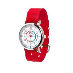 EasyRead Time Teacher Watch Red Strap - Red/Blue Face