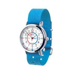 EasyRead Time Teacher Watch Bright Blue Strap - Red/Blue Face