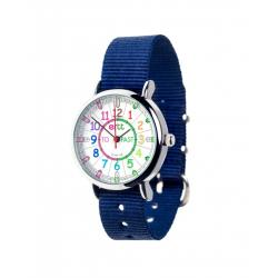 EasyRead Time Teacher Watch Navy Strap - Rainbow Face