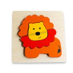 Discoveroo Chunky Wooden Lion Puzzle