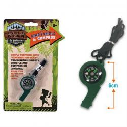 Hiker's Whistle and Compass Lanyard