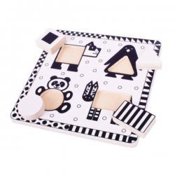 Black and White Animal Puzzle