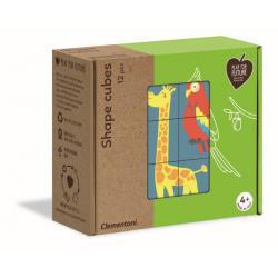 Shape Cubes Puzzle - Animals