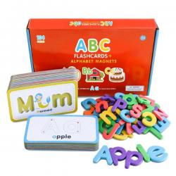 ABC Flashcards and Alphabet Magnets Set