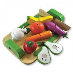 Wooden Fruit and Vegetable Cutting Set