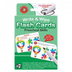 Write and Wipe Preschool Skills Flash Cards