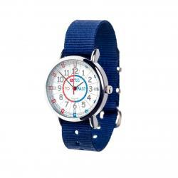 EasyRead Time Teacher Watch Navy Strap - Red/Blue Face