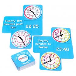 EasyRead Time Teacher Tell the Time Cards - Level 2