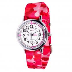 Childrens Analogue Watch - Pink Camo