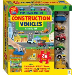 Construction Floor Puzzle with Pull Back And Go Vehicles