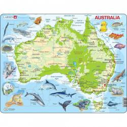 Larsen Map of Australia Puzzle