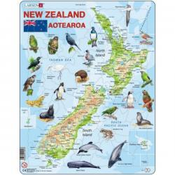 Map of New Zealand 71 Piece Puzzle