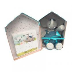 Alvin the Elephant Rubber Toy and Book Gift Set