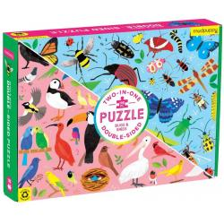 Mudpuppy Bugs and Birds Double-Sided Puzzle