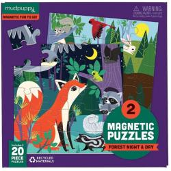 Mudpuppy Magnetic Puzzle - Forest Night and Day