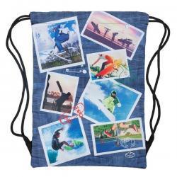 Drawstring Sports Bag - Collage