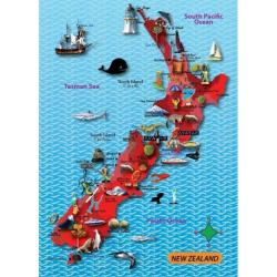 Mapedia New Zealand Map Jigsaw from Purple Cow